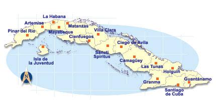 Las provincias y zonas tursticas de Cuba La Habana Varadero